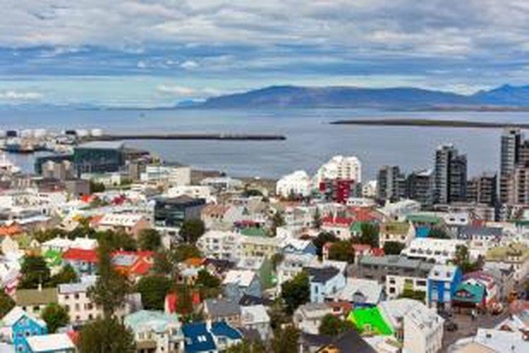 Ibu kota Islandia, Reykjavik.