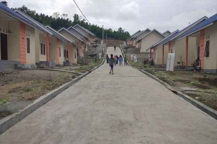 Rumah khusus di Desa Ganti, Donggala, Sulawesi Tengah. Gambar diambil Selasa (15/8/2017).