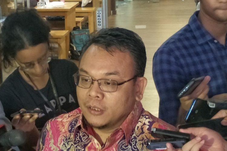 Wakil Sekretaris Jenderal Partai Amanat Nasional (PAN) Saleh Daulay Partaonan di Kompleks Parlemen, Senayan, Jakarta, Jumat (25/10/2019).