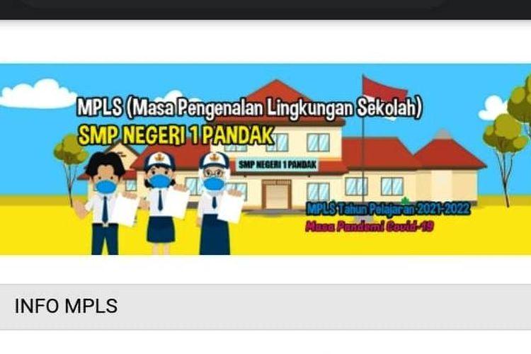 Tampilan MPLS online di SMPN 1 Pandak Bantul DIY melalui blog sekolah.