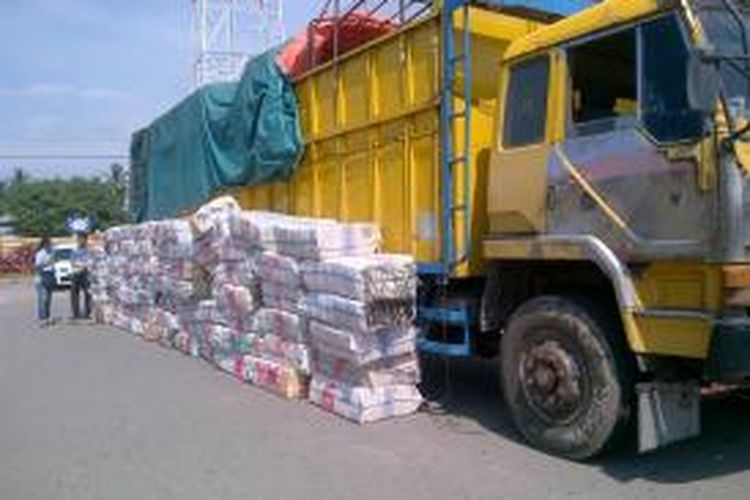 Lebih kurang tiga ton ganja kering diamankan di Mapolres Bireuen, Senin (11/5), sekira pukul 12.30 wib. DESI