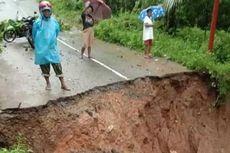 Sungai Meluap, Jalan Penghubung 2 Kecamatan di Maluku Tengah Ambles