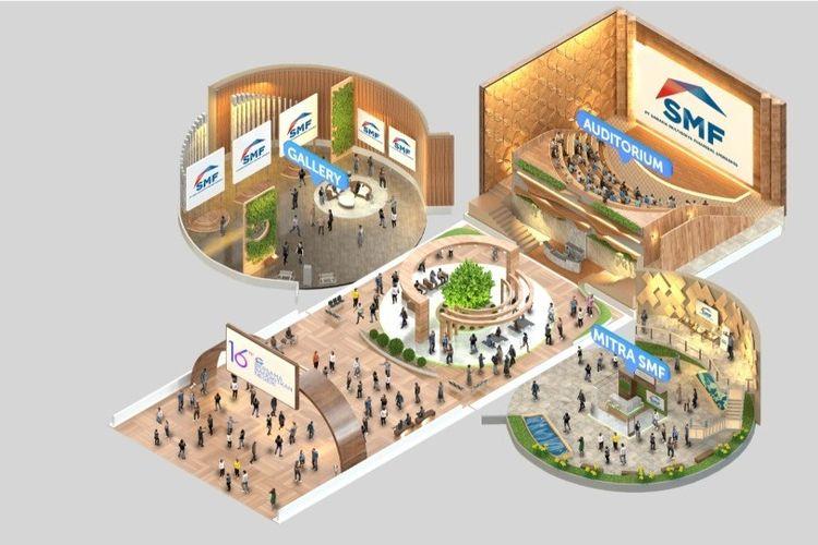Expo properti virtual SMF Virtual Griya Expo 2021 yang diinisasi oleh PT Sarana Multigriya Finansial (SMF) mulai dari 18 Agustus hingga 19 September 2021