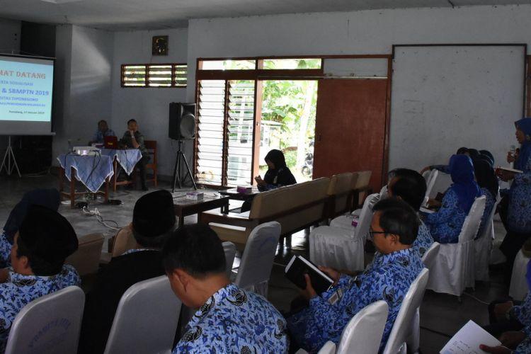 Universitas Diponegoro melakukan sosialisasi SNMPTN kepada 200 kepala sekolah Wilayah Cabang Dinas Pendidikan XI dan XII, Kamis (17/1/2019).