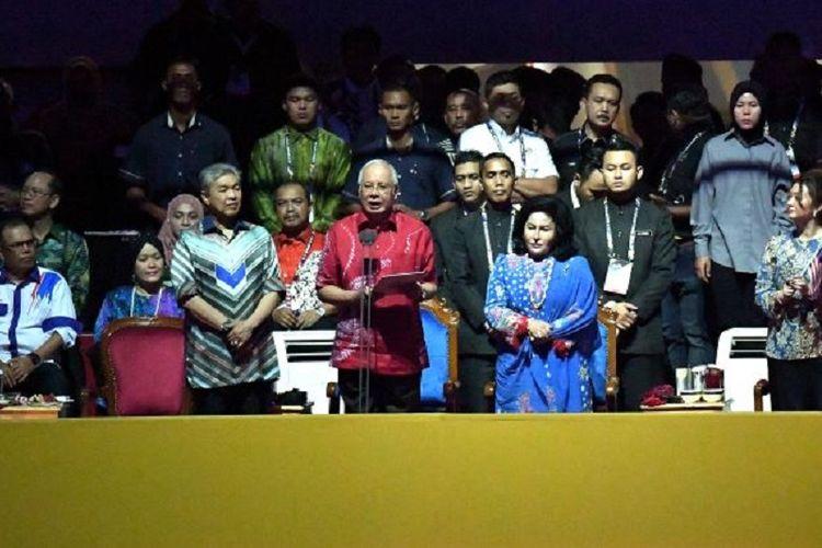 Perdana Menteri Malaysia Najib Rajak pada saat penutupan perhelatan Sea Games 2017 di Kuala Lumpur, Rabu (30/8/2017)