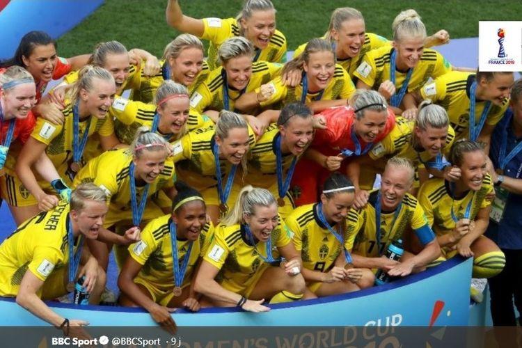 Timnas Putri Swedia menjadi juara ketiga Piala Dunia Wanita 2019