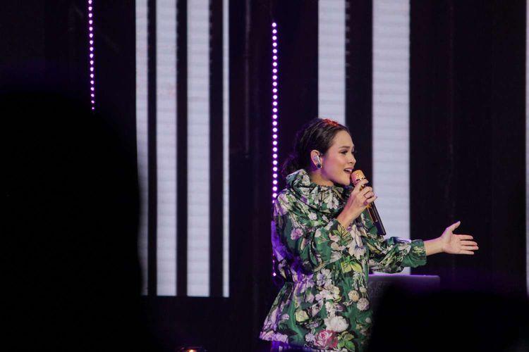 Andien tampil di Java Jazz Festival 2020 yang digelar di JIExpo, Kemayoran, Jakarta Pusat, Minggu (1/3/2020).