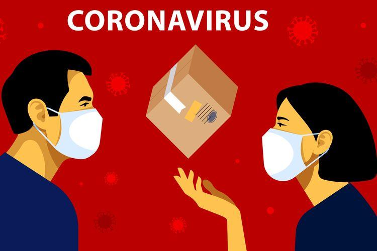 Ilustrasi virus corona, gejala virus corona