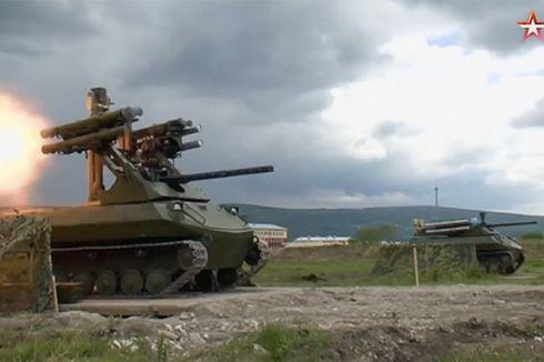 Aksi Tank Tanpa Awak Rusia Terekam Video