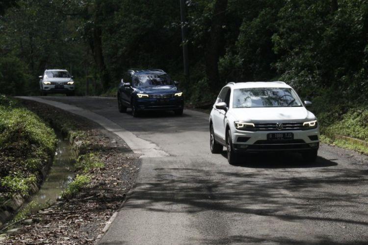 VW Tiguan saat media test drive ke Ciwidey, Bandung Selatan (29/1/2020).