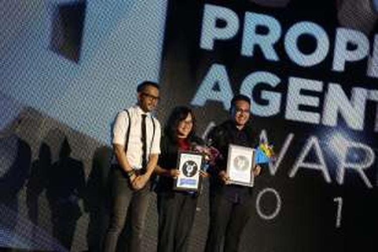 Para penerima penghargaan 'Property Agent Awards 2016', Kamis (25/8/2016) malam tadi di Jakarta.
