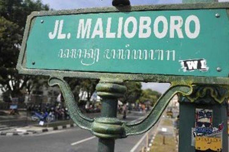 Jalan Malioboro, Yogyakarta.