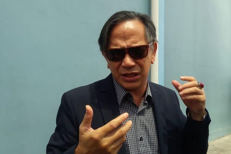 Aktor Ray Sahetapy saat ditemui di kawasan Mampang, Jakarta Selatan, Senin (1/10/2018).