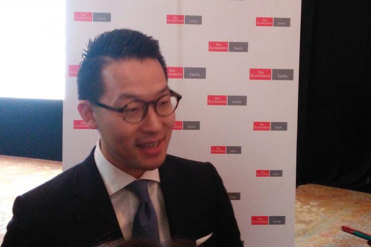 CEO PT Lippo Karawaci Tbk John Riady di Hotel Shangrila Jakarta, Kamis (20/4/2017).