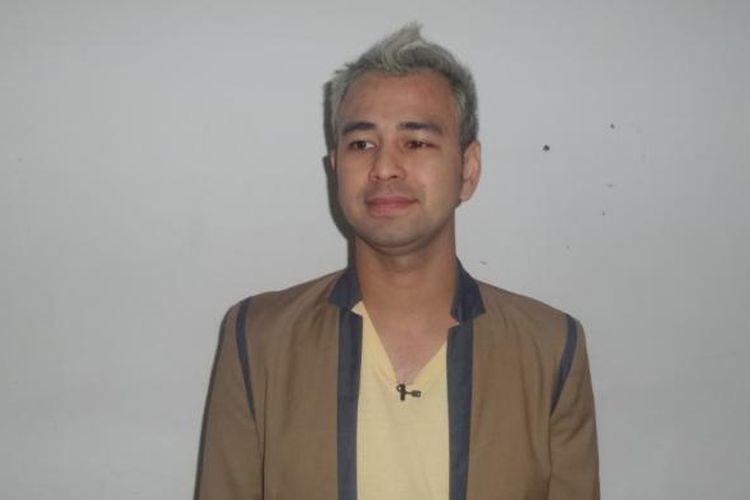 Raffi Ahmad diabadikan di studio ANTV, Epicentrum, Jakarta Selatan, Rabu (11/1/2017).