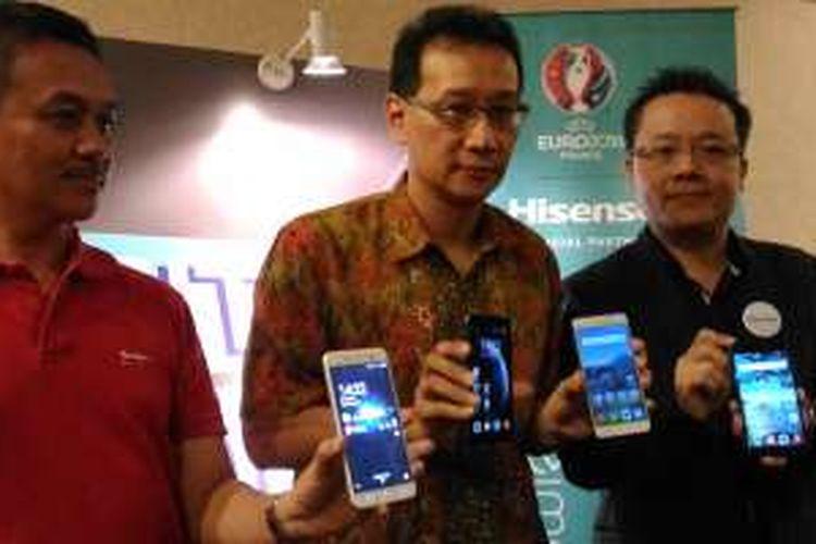 Peluncuran empat lini ponsel 4G Hisense, Jumat (3/6/2016), bertepatan  dengan ICS 2016 di JCC, Senayan