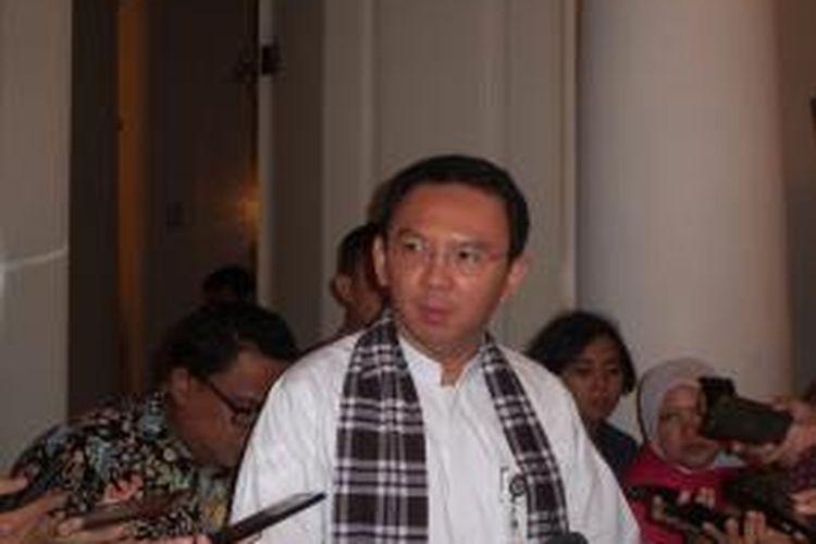 Gubernur DKI Jakarta Basuki Tjahaja Purnama, di Balai Kota, Jumat (24/4/2015)