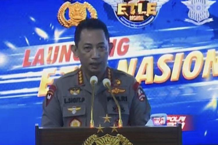 Kapolri Jenderal Polisi Listyo Sigit Prabowo saat Launching ETLE Nasional Tahap Pertama