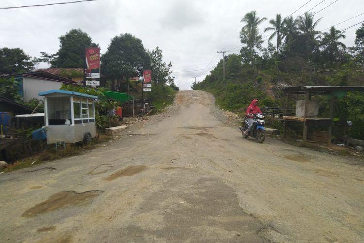 Desa Semoi Dua Kecamatan Sepaku Kabupaten Penajam Paser Utara. Di kecamatan ini digadang-gadang jadi ibu kota negara. Foto diambil, Sabtu (26/10/2019).