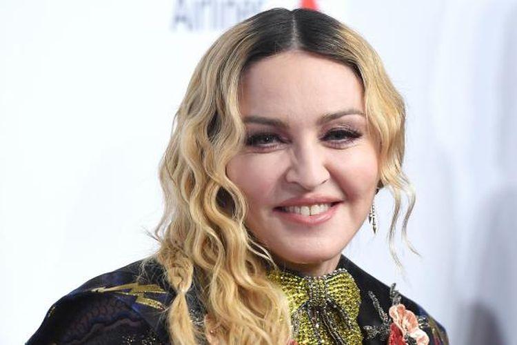 Madonna menghadiri acara Billboard Women in Music 2016 di New York City, AS, Jumat (9/12/2016).