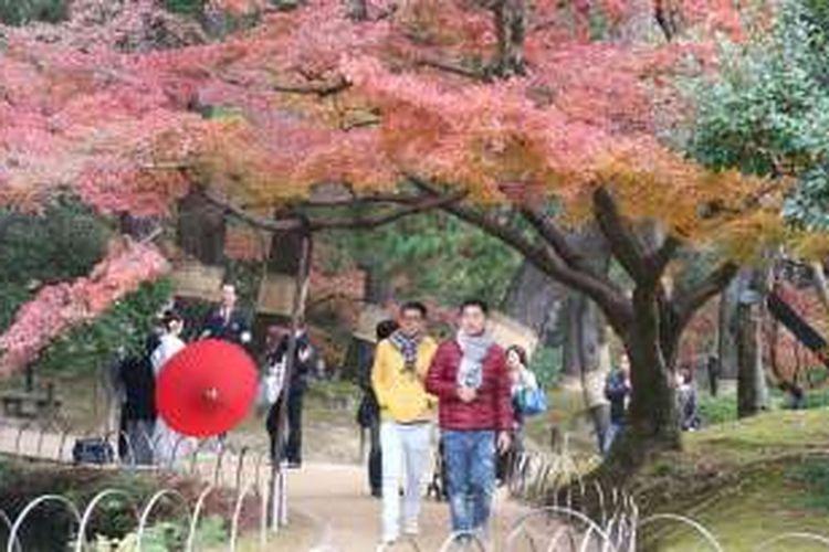 Taman Korakuen di Okayama, Jepang.