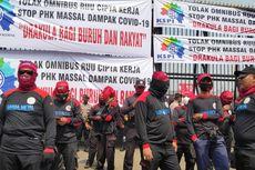 Demo di DPR, Buruh Pertanyakan Dikebutnya Pembahasan Omnibus Law
