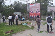 Pedagang Pasar Tiba-tiba Lempari Gerbang Universitas Riau dengan Sayur dan Buah