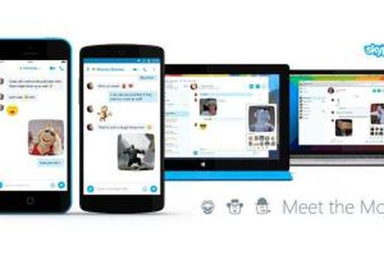 Skype perkenalkan Moji