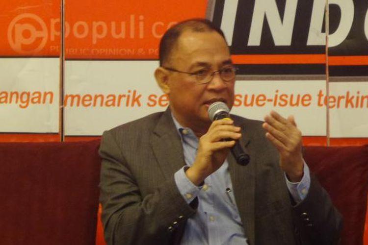 Anggota Komisi III Saiful Bahri Ruray dalam acara diskusi di bilangan Menteng, Jakarta Pusat, Sabtu (28/1/2017).