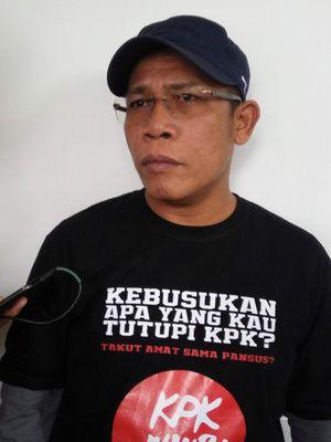 Anggota Komisi III DPR RI Masinton Pasaribu saat diwawancarai di kawasan Cikini, Jakarta Pusat, Sabtu (5/8/2017).