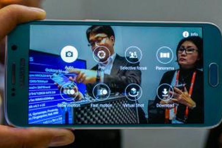 Aneka mode pengambilan gambar yang tersedia pada aplikasi kamera Galaxy S6