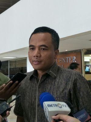 Wakil Ketua Umum Partai Persatuan Pembangunan Arwani Thomafi di Kompleks Parlemen Senaya , Jakarta, Selasa (19/3/2019).