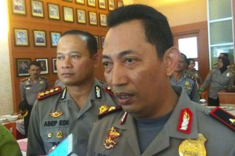Listyo Sigit Prabowo saat menjabat Kapolda Banten dan masih berpangkat Kombes, usai jumpa pers pengamanan Pilkada Banten di Mapolrestro Tangerang, Kamis (16/2/2017).