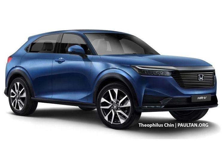 Olah digital Honda HR-V generasi baru.