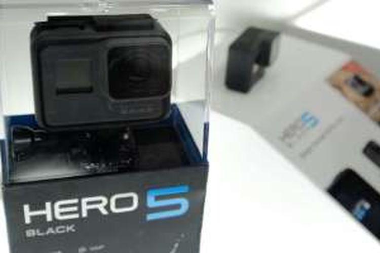 GoPro Hero 5 Black dipamerkan di Photokina 2016.