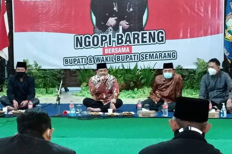 Bupati Semarang Ngesti Nugraha dalam acara Ngolah Pikir (Ngopi) Bareng