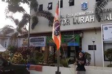 Final Persija Vs Persib, Bendera Persija Berkibar di Kantor Kelurahan di Wilayah Jaksel