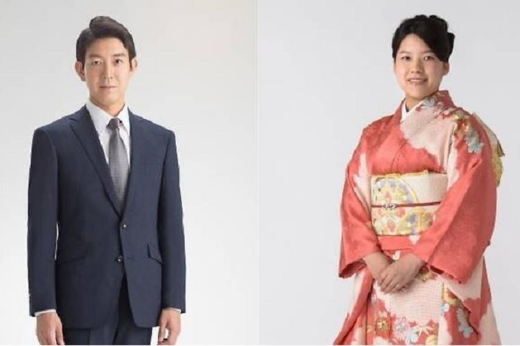 Putri Ayako dan calon suaminya, Kei Moriya.