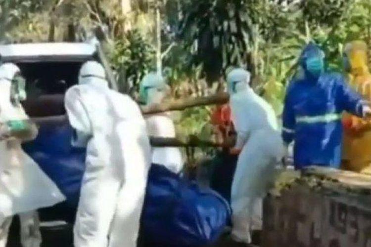 Viral video jenazah korban corona ditolak warga (Tribun Jateng/Instagram)