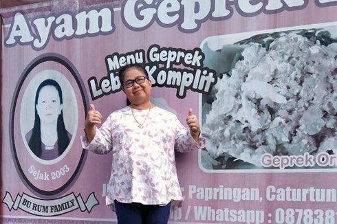 Kisah Bu Rum, Disebut Pelopor Menu Ayam Geprek Asli Yogyakarta, Berjualan Selama 17 Tahun