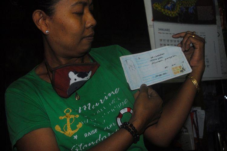 Kusmiyati (47) saat ditemui di rumahnya diDesa Panunggalan, Kecamatan Pulokulon, Kabupaten Grobogan, Jawa Tengah, Kamis (25/2/2021) sore.