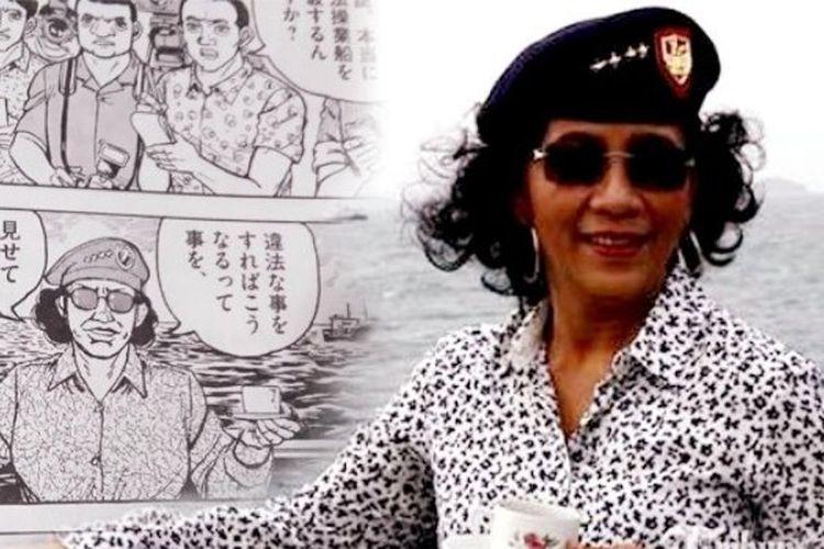 Wajah Susi Pudjiastuti dalam komik Jepang Golgo 13