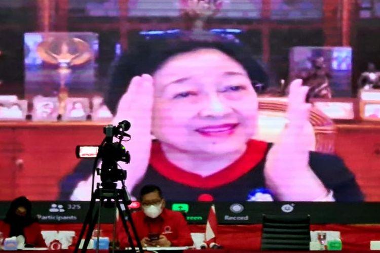 Ketua Umum PDI Perjuangan Megawati Soekarnoputri membuka Rakorbidnas Kebudayaan PDI-P, Sabtu (31/10/2020).