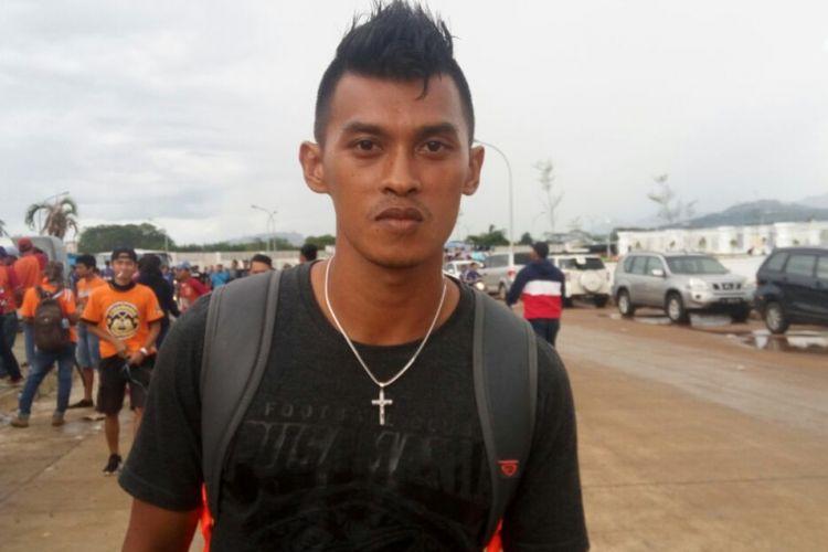 Lerby Eiandry hadir di Stadion Pakansari untuk menyaksikan laga final Piala Presiden 2017 antara Pusamania Borneo FC dan Arema FC, Minggu (12/3/2017).