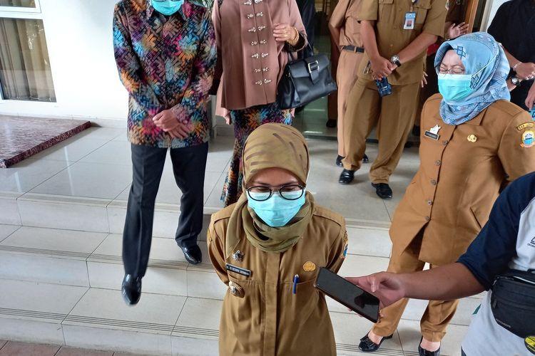 Bupati Lebak Iti Octavia Jayabaya di Pendopo Kabupaten Lebak, Selasa (9/3/2021)