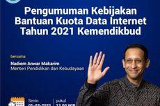 Saksikan, Pengumuman Bantuan Kuota Internet Kemendikbud 2021 Siang Ini
