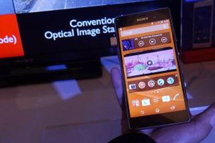 Smartphone Android terbaru besutan Sony, Xperia Z3 diperkenalkan resmi di Singapura, Selasa (16/9/2014).