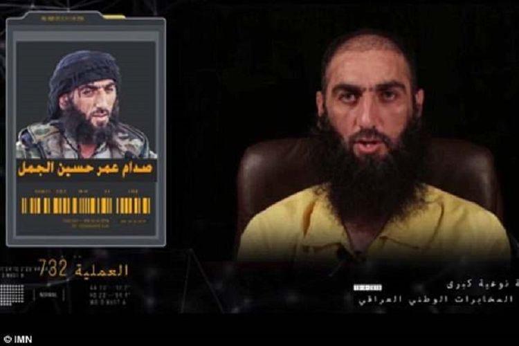 Saddam al-Jamal, komandan senior ISIS yang ditangkap di Irak.