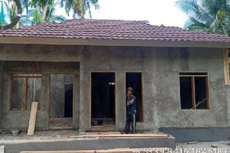 Ilustrasi rumah yang mendapatkan bantuan Program Bantuan Stimulan Perumahan Swadaya (BSPS) di Provinsi Nusa Tenggara Barat (NTB).