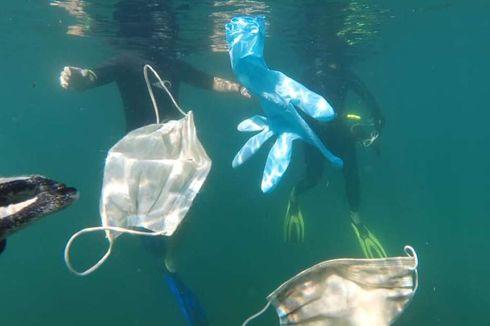 Dampak Covid-19, Sampah APD Mengapung di Laut Mediterania